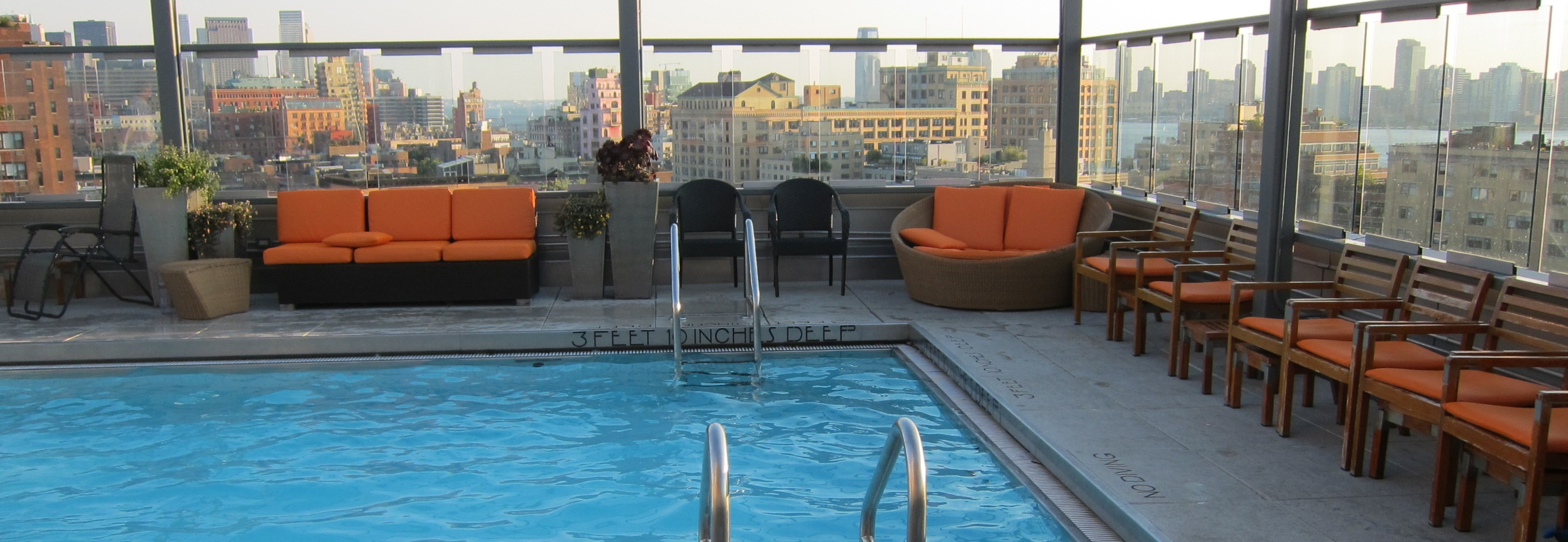 New York's Dachterrassen und Roof-Top Pools