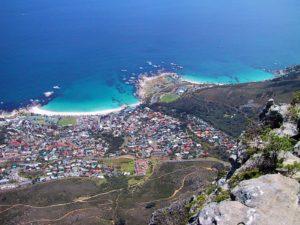 Blick vom Tafelberg auf Camps Bay
